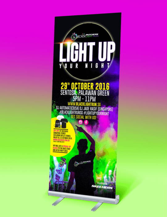 Blacklight Run SIngapore 2016 Pullupstand Design