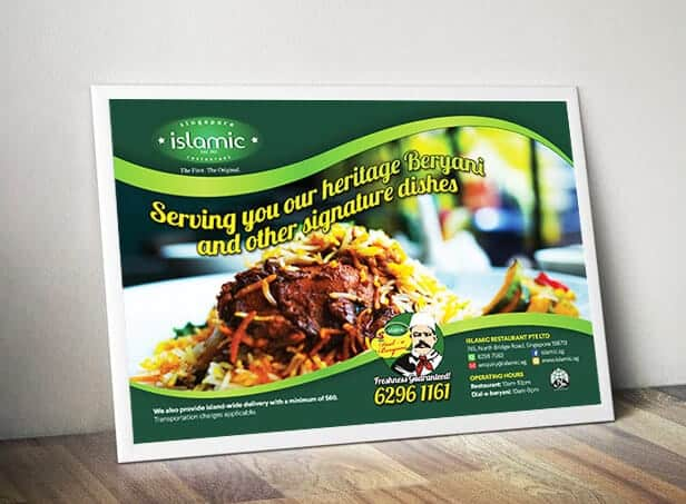 Advertisement Design for Islamic Restaurant