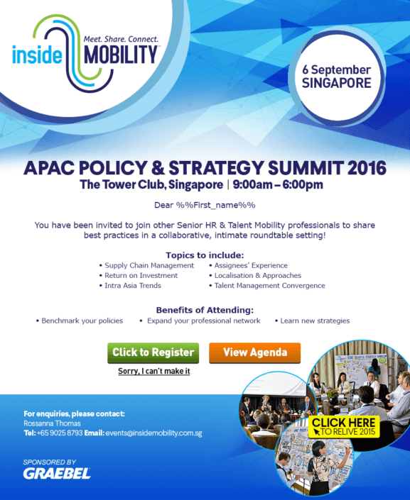 GRAEBEL APAC Policy & Strategy Summit 2016 EDM