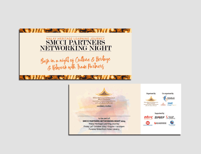 SMCCI Partners Networking Night Invitation Card Design