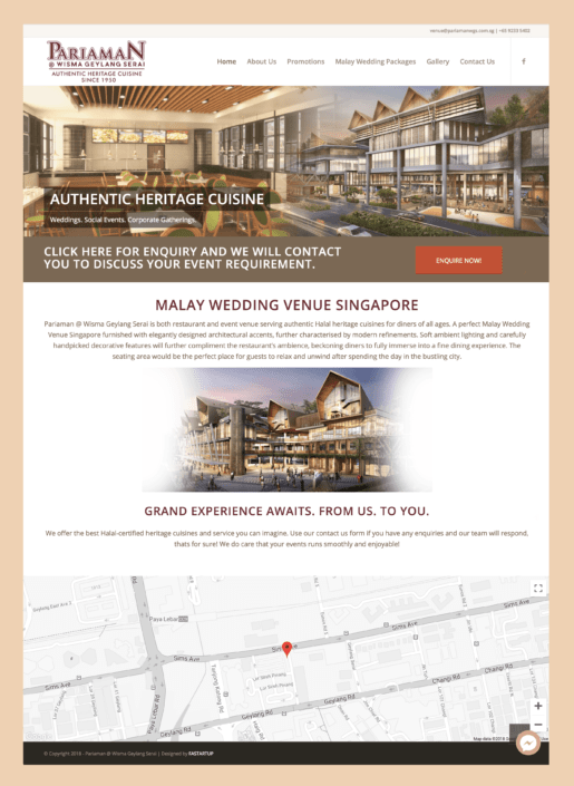 Pariaman Wisma Geylang Serai Website Design