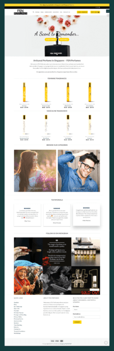 Fen Perfumes Web Design by FASTARTUP